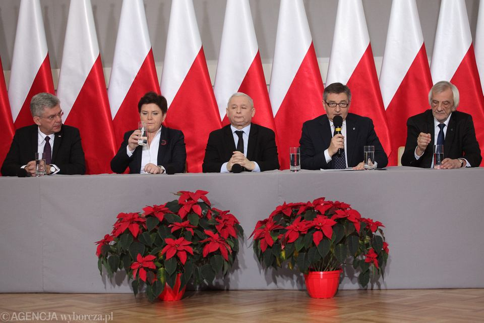 Konferencja liderów PiS