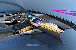 Nowa Skoda Octavia debiutuje już za kilka dni. Znamy szczegóły wnętrza - zniknie typowy drążek zmiany biegów