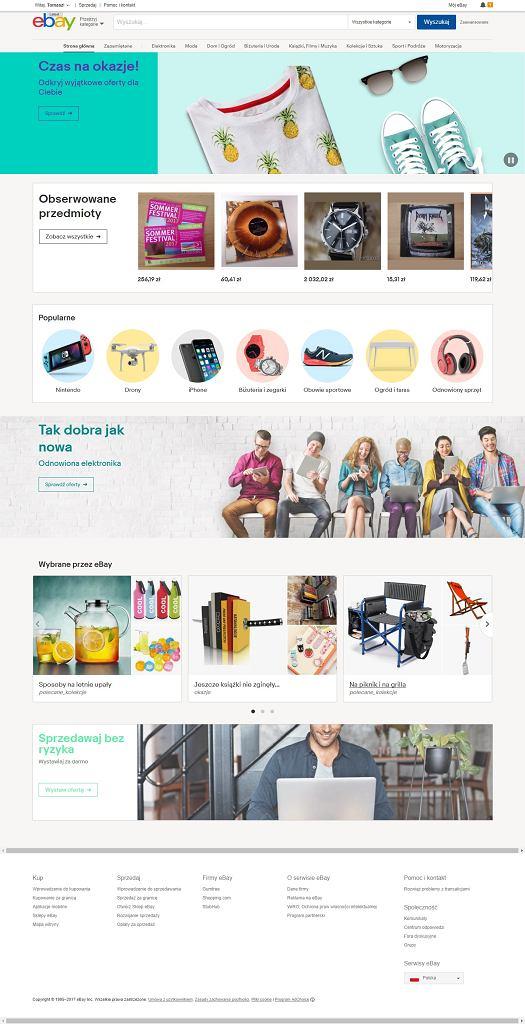 Nowa strona internetowa polskiego eBay