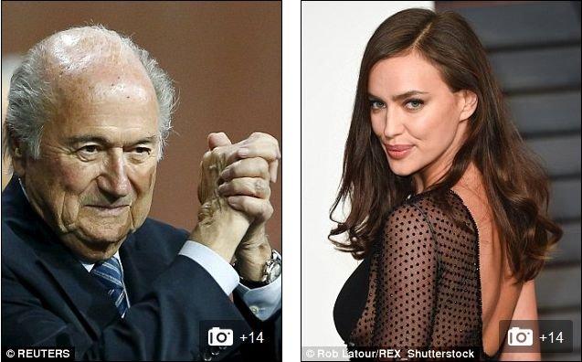 Sepp Blatter i Irina Shayk