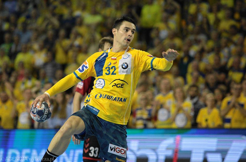 Angel Fernandez podczas meczu PGE Vive - Vardar Skopje