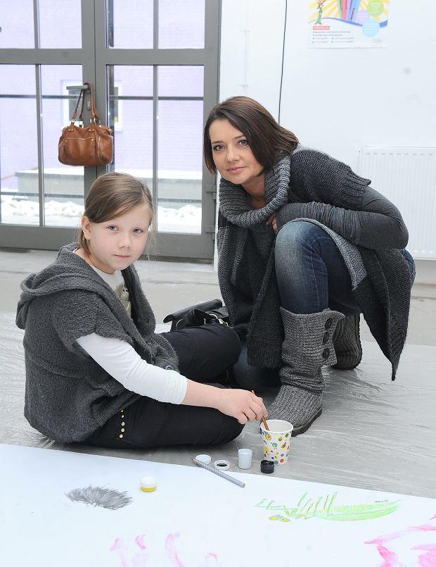 Małgorzata Ostrowska - Królikowska i dziecko
