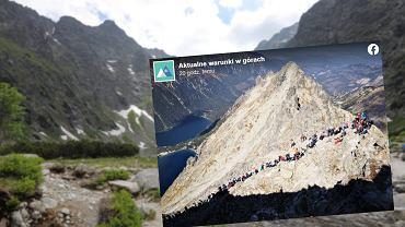 Tłumy w Tatrach