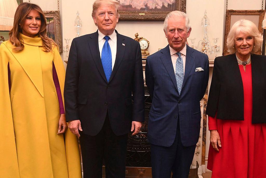 Donald Trump, Melania Trump, książę Karol, księżna Camilla