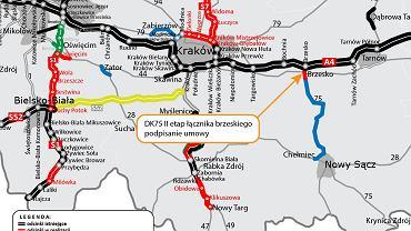 Łącznik brzeski, DK75 z autostradą A4
