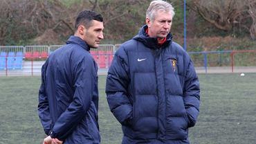 Admir Kecap z trenerem Janem Kocianem