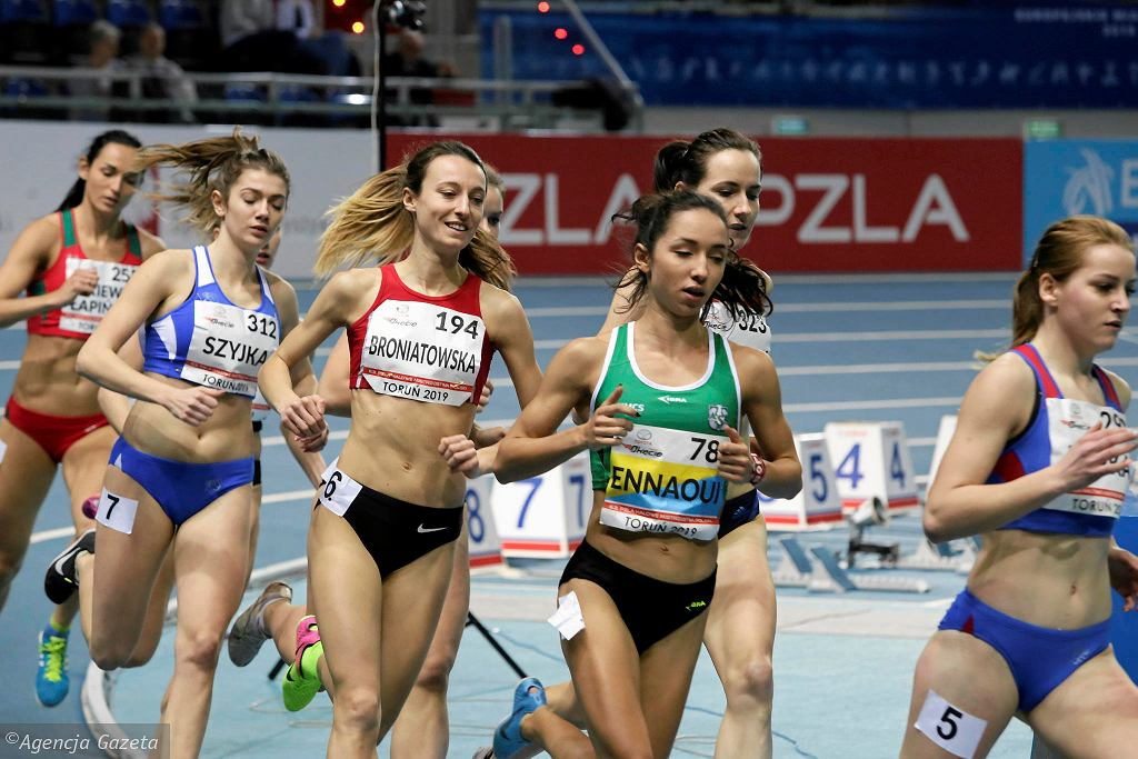 Toruń 2019. 63. HMP, Sofia Ennaoui (AZS UMCS Lublin) biegnie po złoto na 1500 m