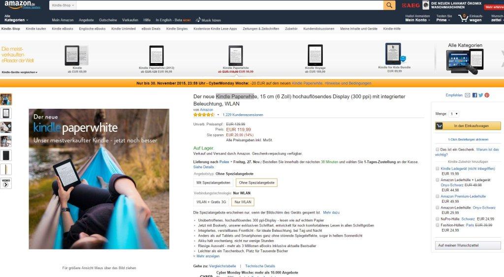 Niemiecki Amazon wysyła towar do Polski za darmo