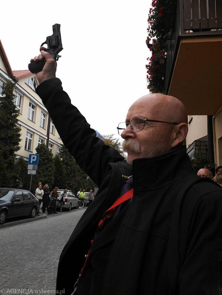 Wojciech Krokoszyński podczas Tumskiej Dychy