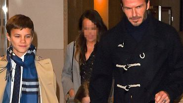 Romeo Beckham, Harper Beckham, David Beckham