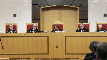 Trybunał Konstytucyjny podczas ogłaszania wyroku