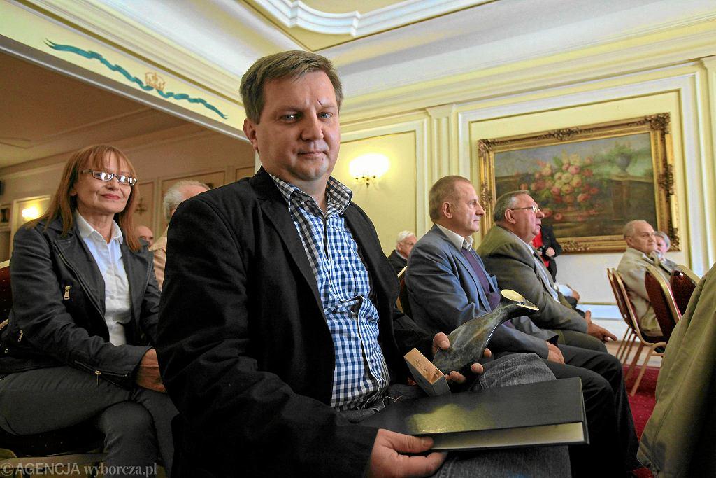 19.09.2013, Wrocław, Jacek Harłukowicz z nagrodą Dziennikarza Roku 2012