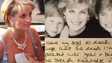 księżna Diana książę William książę Harry