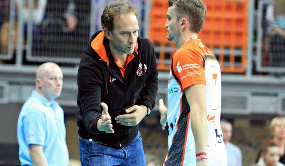 Trener Lorenzo Bernardi i Michal Masny