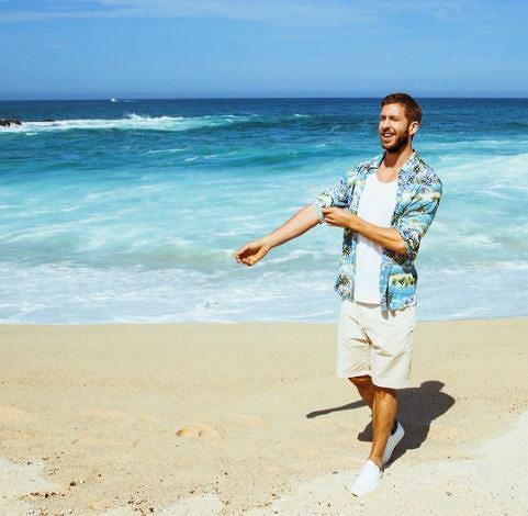 Calvin Harris na plaży