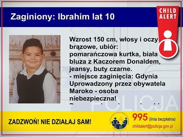 Zaginął 10-letni Ibrahim