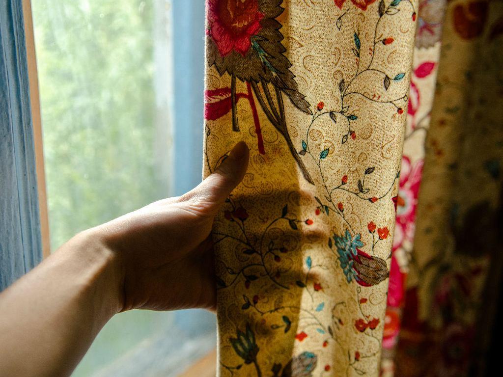 motyw roślinny w oknie