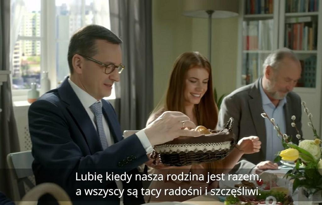 Wideo z życzeniami wielkanocnymi Mateusza Morawieckiego