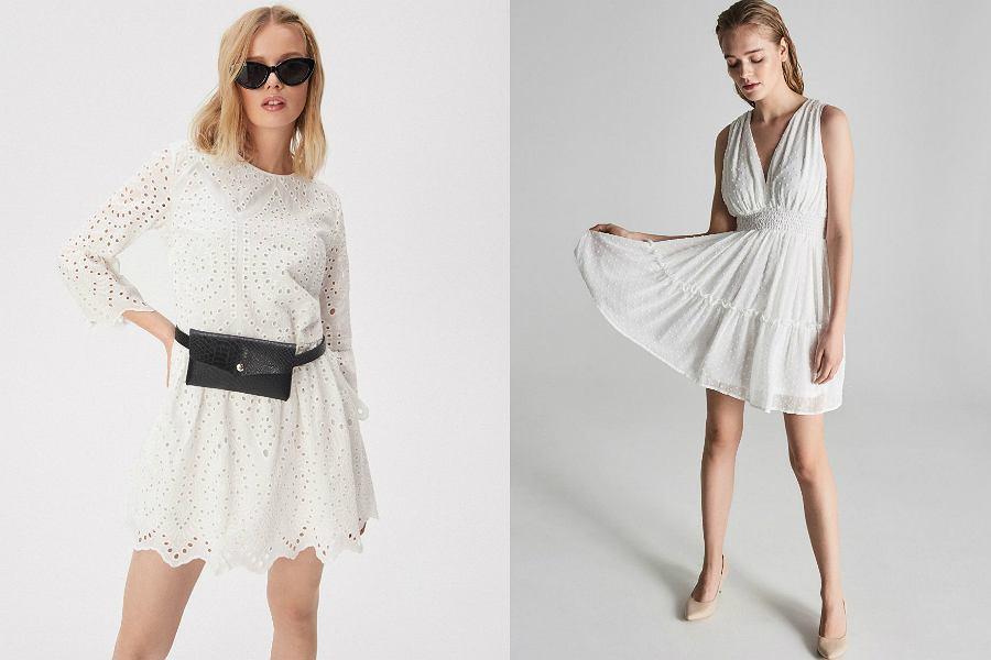 białe sukienki Sinsay