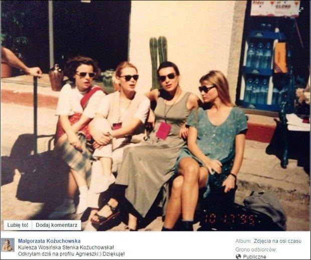 Małgorzata Kożuchowska z koleżankami z branży