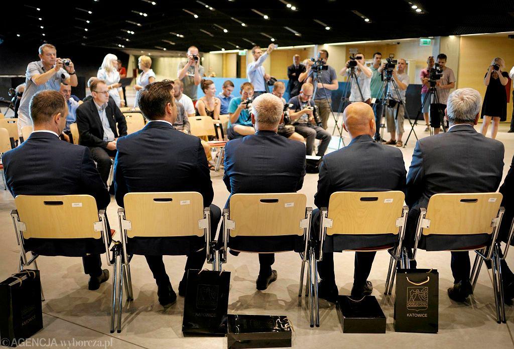 Konferencja prasowa przed Tour de Pologne w Międzynarodowym Centrum Kongresowym