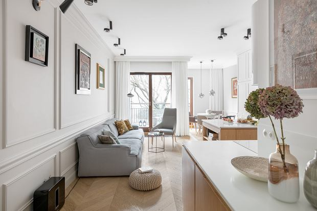 Mieszkanie na Powiślu z klimatem paryskiej kamienicy