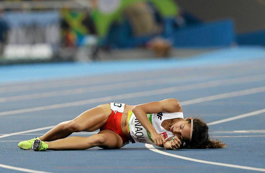 Sofia Ennaoui na mecie półfinałowego wyścigu na 1500 metrów