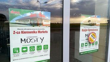 Ogłoszenie o pracy na sklepie w Mostach