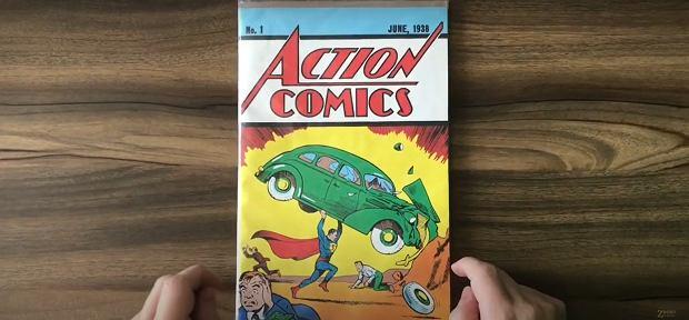 Pierwszy numer 'Action Comics'.