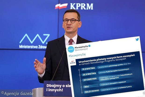 Mateusz Morawiecki na konferencji prasowej