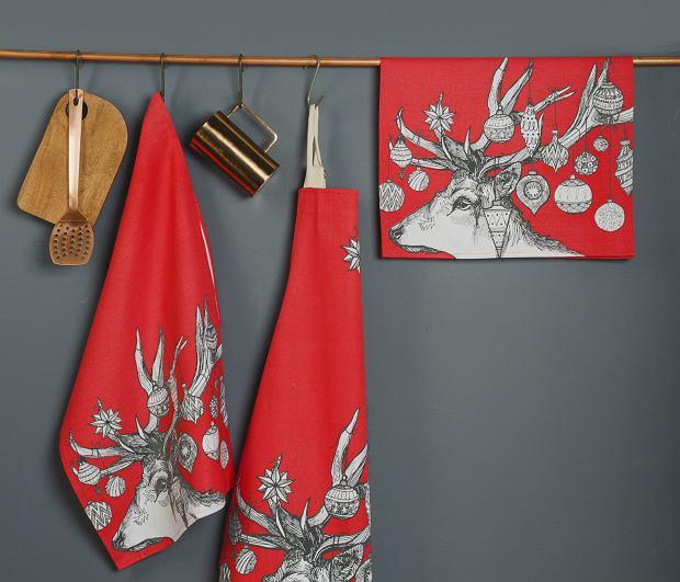 Kuchenne tekstylia w świątecznym klimacie