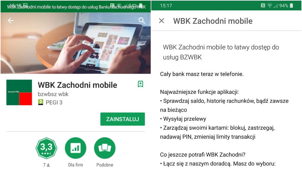 Fałszywa aplikacja BZWBK