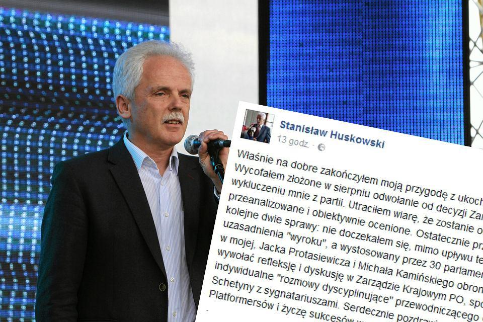 Stanisław Huskowski żegna się z Platformą