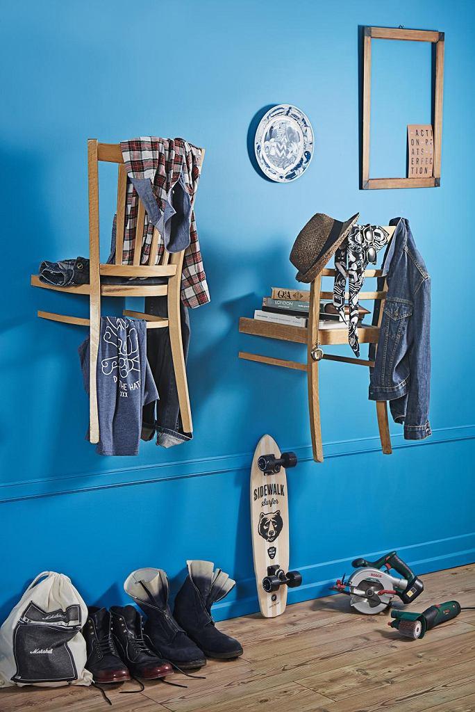 Garderoba z krzeseł