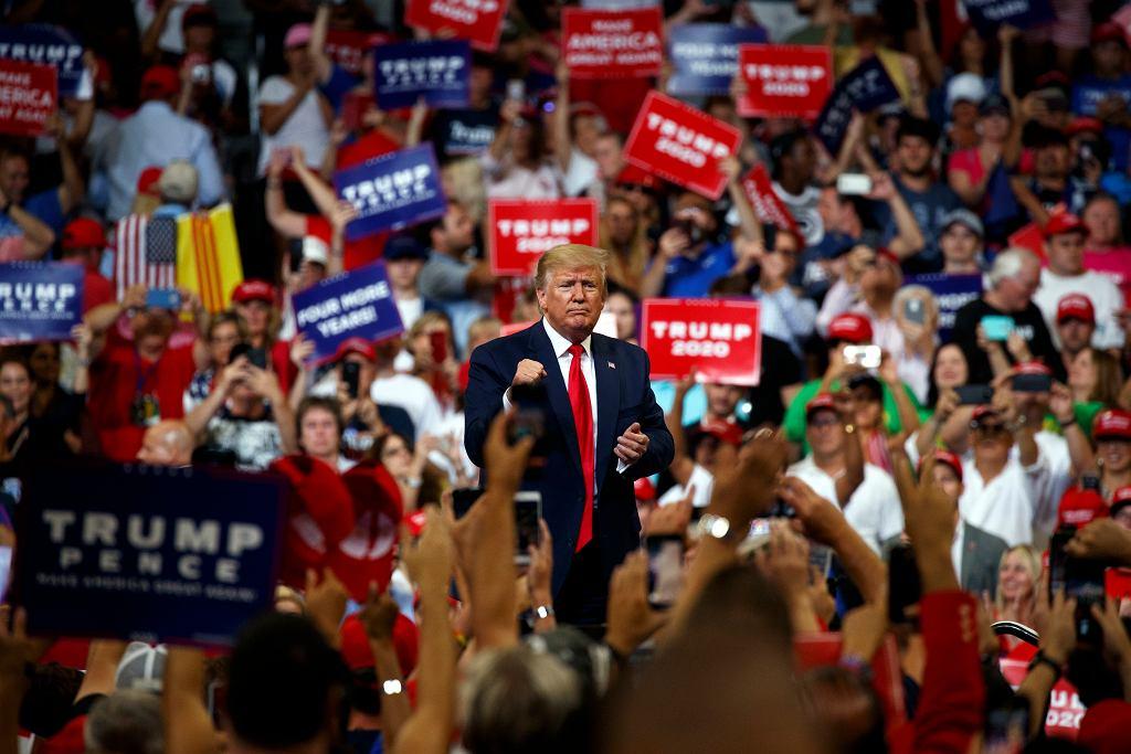 Donald Trump inauguruje kampanię na wybory prezydenckie w 2020 roku