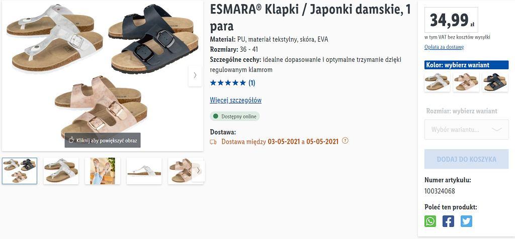 Lidl sprzedaje klapki za mniej niż 35 zł