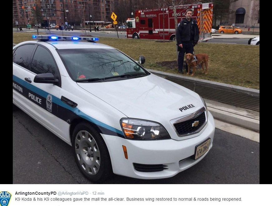 Fałszywy alarm bombowy w okolicach Pentagonu