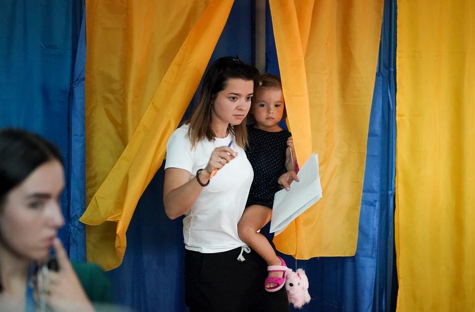 21.07.2019, Kijów, głosowanie w wyborach parlamentarnych.