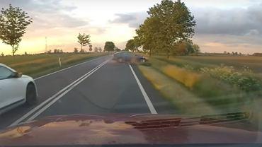 Wypadek na trasie Zaniemyśl - Środa Wielkopolska