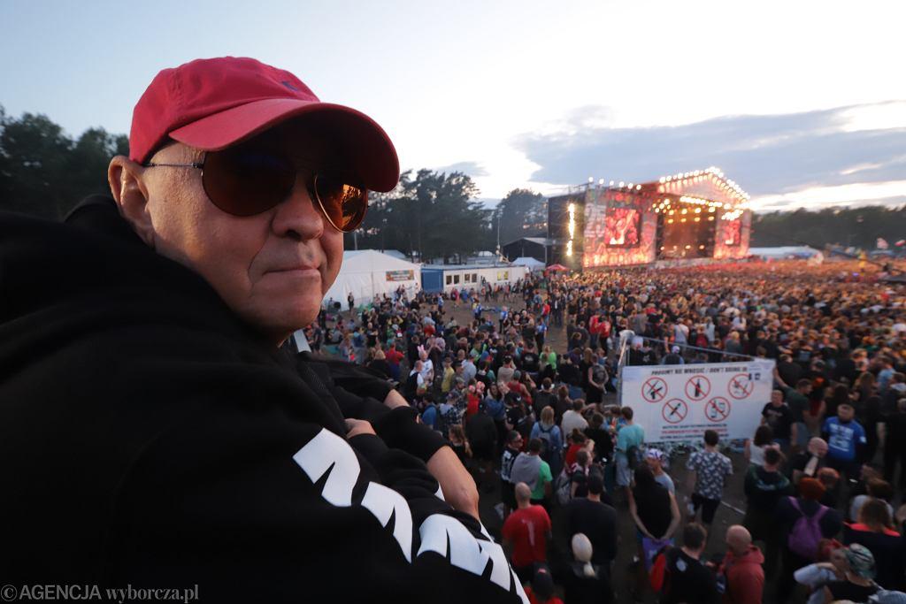 Jurek Owsiak na Pol'and'Rock Festival w 2019 roku