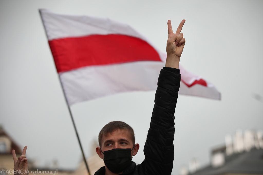 Protest Bialorusinów w Krakowie