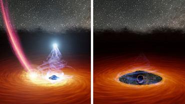 Korona czarnej dziury zniknęła, by znowu się odbudować. Nigdy wcześniej nie obserwowano takiego zjawiska