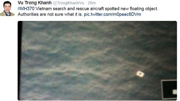 Ekipy poszukiwawcze znalazły 'nowy obiekt'