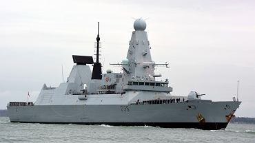 Brytyjski niszczyciel 'Defender'