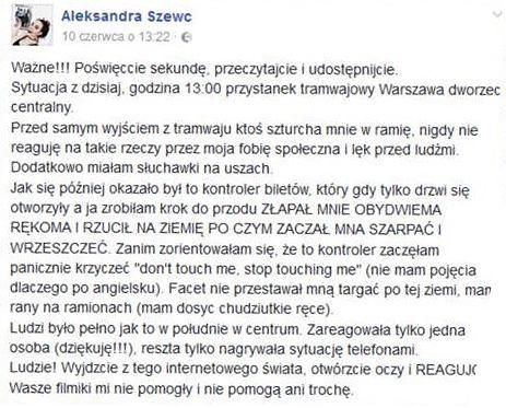 Kanar kontra mieszkanka Warszawy