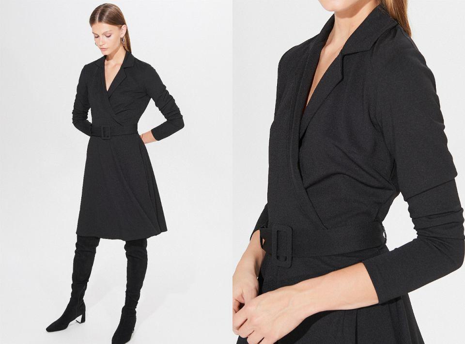 Czarna sukienka w biurowej odsłonie