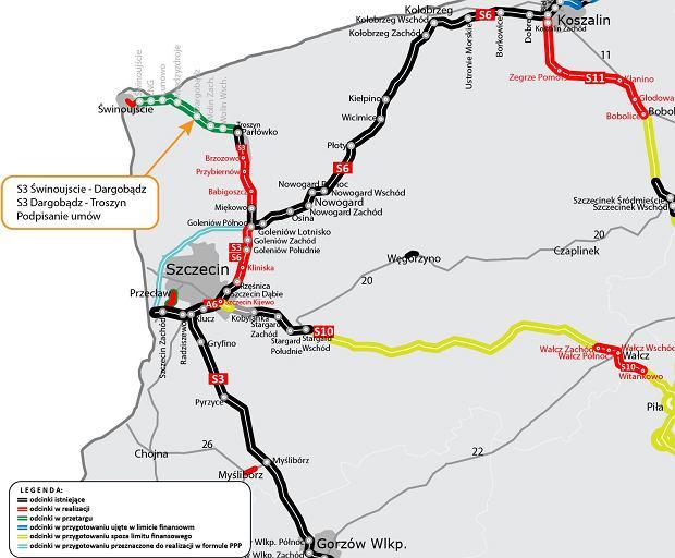 Trasa S3, Świnoujście - Troszyn