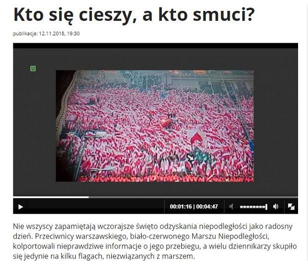 'Wiadomości' TVP z 12.11.2018 r.