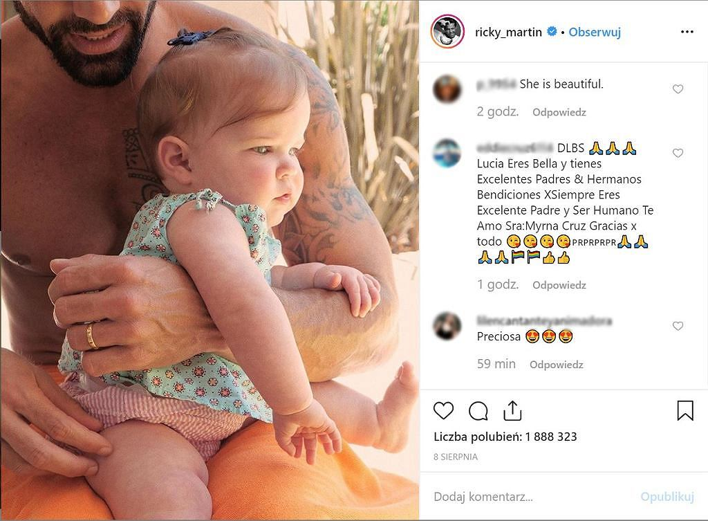 Ricky Martin i jego mąż będą mieli kolejne dziecko. Piosenkarz ogłosił tę nowinę ze sceny