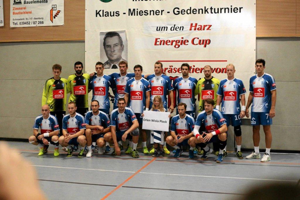Piłkarze ręczni Orlen Wisły Płock podczas turnieju Energie Cup w niemieckim Ilsenburgu